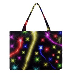 Fireworks Star Light Medium Tote Bag