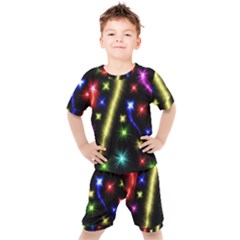 Fireworks Star Light Kids  Tee And Shorts Set