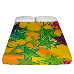 Star Homepage Abstract Fitted Sheet (queen Size)