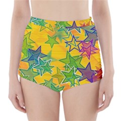 Star Homepage Abstract High Waisted Bikini Bottoms