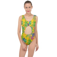 Star Homepage Abstract Center Cut Out Swimsuit