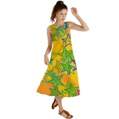 Star Homepage Abstract Summer Maxi Dress