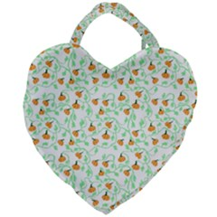 Pumpkin Vines Giant Heart Shaped Tote by bloomingvinedesign
