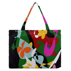 Sahara Street Botanical Garden Zipper Medium Tote Bag by SaharaStreet