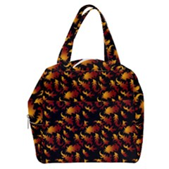 Abstract Flames Pattern Boxy Hand Bag by bloomingvinedesign