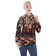 Hot Day In  Dallas 6 Women s Long Sleeve Pocket Shirt