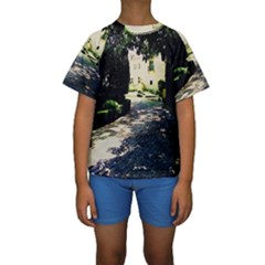 Hot Day In Dallas 1 Kids  Short Sleeve Swimwear by bestdesignintheworld