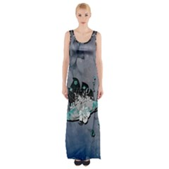Sport, Surfboard With Flowers And Fish Thigh Split Maxi Dress by FantasyWorld7