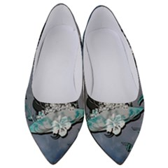 Sport, Surfboard With Flowers And Fish Women s Low Heels by FantasyWorld7
