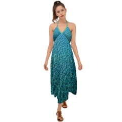 Turquoise Blue Ocean Halter Tie Back Dress