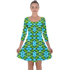 New Arrivals-a-12 Quarter Sleeve Skater Dress by ArtworkByPatrick