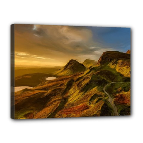 Painting Oil Painting Photo Painting Canvas 16  X 12  (stretched) by Sudhe