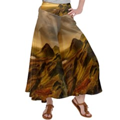 Painting Oil Painting Photo Painting Satin Palazzo Pants by Sudhe