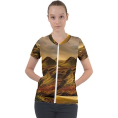 Painting Oil Painting Photo Painting Short Sleeve Zip Up Jacket