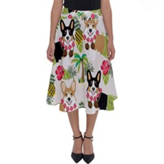 Corgis Pattern Perfect Length Midi Skirt