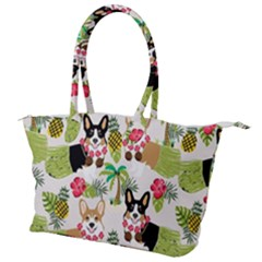 Corgis Pattern Canvas Shoulder Bag