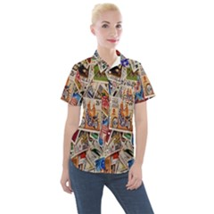 Stamp Women s Short Sleeve Pocket Shirt