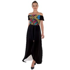 Afr 10 Off Shoulder Open Front Chiffon Dress by exoticexpressions