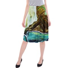 Wood Horsey 1 1 Midi Beach Skirt