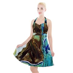 Wood Horsey 1 1 Halter Party Swing Dress
