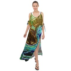 Wood Horsey 1 1 Maxi Chiffon Cover Up Dress