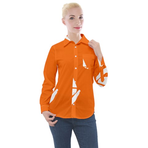 Proposed Flag Of Antarctica Women s Long Sleeve Pocket Shirt by abbeyz71