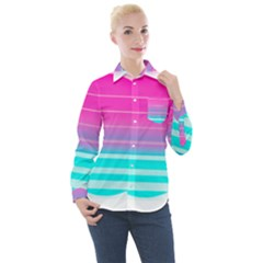 Portable Network Graphics Women s Long Sleeve Pocket Shirt