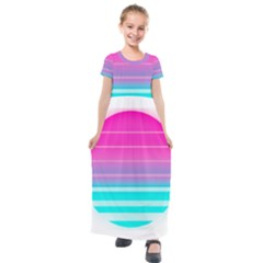 Portable Network Graphics Kids  Short Sleeve Maxi Dress