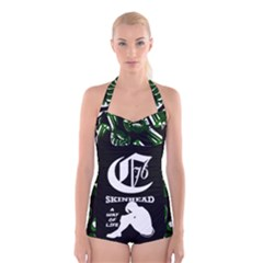Combat76 A Way Of Life Boyleg Halter Swimsuit  by Combat76hornets