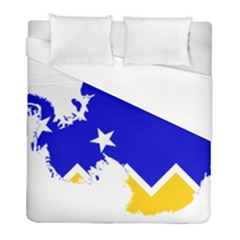 Chilean Magallanes Region Flag Map Of Antarctica Duvet Cover (full/ Double Size) by abbeyz71