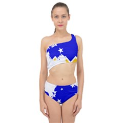 Chilean Magallanes Region Flag Map Of Antarctica Spliced Up Two Piece Swimsuit