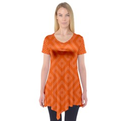 Orange Maze Short Sleeve Tunic