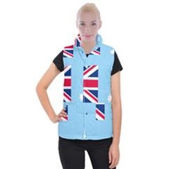 Proposed Flag Of The Australian Antarctic Territory Women s Button Up Vest by abbeyz71