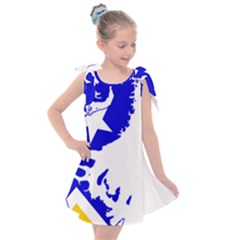 Magallanes Region Flag Map Of Chilean Antarctic Territory Kids  Tie Up Tunic Dress by abbeyz71