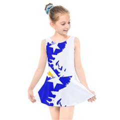 Magallanes Region Flag Map Of Chilean Antarctic Territory Kids  Skater Dress Swimsuit by abbeyz71