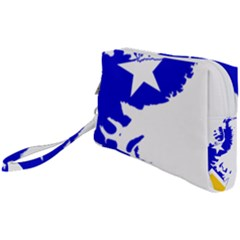 Magallanes Region Flag Map Of Chilean Antarctic Territory Wristlet Pouch Bag (small)