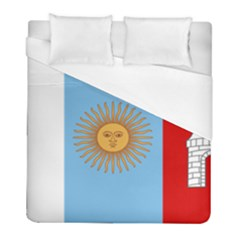 Unofficial Flag Of Argentine Cordoba Province Duvet Cover (full/ Double Size) by abbeyz71