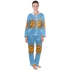 Unofficial Flag Of Argentine Cordoba Province Satin Long Sleeve Pyjamas Set by abbeyz71