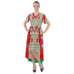 Coat Of Arms Of Argentine Cordoba Province Front Wrap High Low Dress