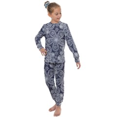 Flowers Mandala Kids  Long Sleeve Set  by goljakoff