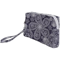 Flowers Mandala Wristlet Pouch Bag (small)