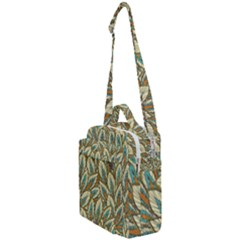 Tropical Leaves Crossbody Day Bag by goljakoff
