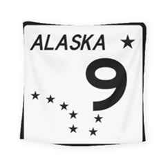 Alaska Route 9 Shield Square Tapestry (small) by abbeyz71