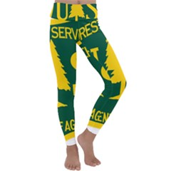 Logo Of The U S  Forest Service Kids  Lightweight Velour Classic Yoga Leggings by abbeyz71