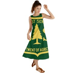 Flag Of The U S  Forest Service Summer Maxi Dress