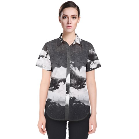 Blue Whale Dream Women s Short Sleeve Shirt by goljakoff