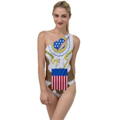 Greater Coat Of Arms Of The United States To One Side Swimsuit by abbeyz71