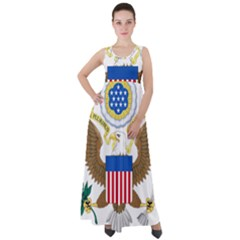 Greater Coat Of Arms Of The United States Empire Waist Velour Maxi Dress by abbeyz71