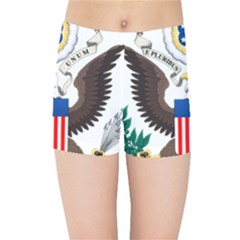 Greater Coat Of Arms Of The United States Kids  Sports Shorts