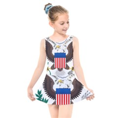 Greater Coat Of Arms Of The United States Kids  Skater Dress Swimsuit by abbeyz71